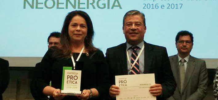 Notícias - Neoenergia receives seal of 2019 Pro-Ethical Company for third consecutive time