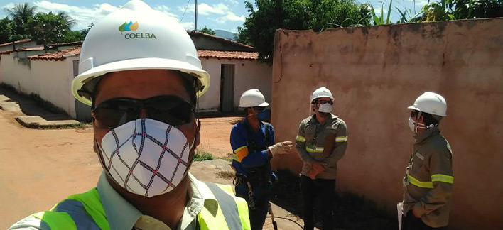 Notícias - Segurança - Neoenergia quadruples safety inspections to avoid accidents with employees and reinforces prevention against Covid-19